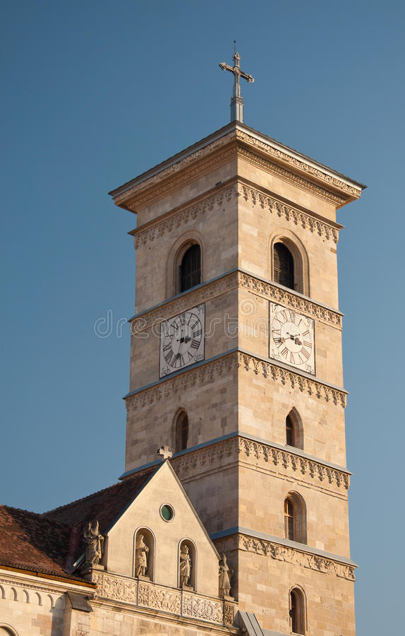 Download Tower Of Saint Michael Cathedral, Alba Iulia Stock Image - Image: 49296833