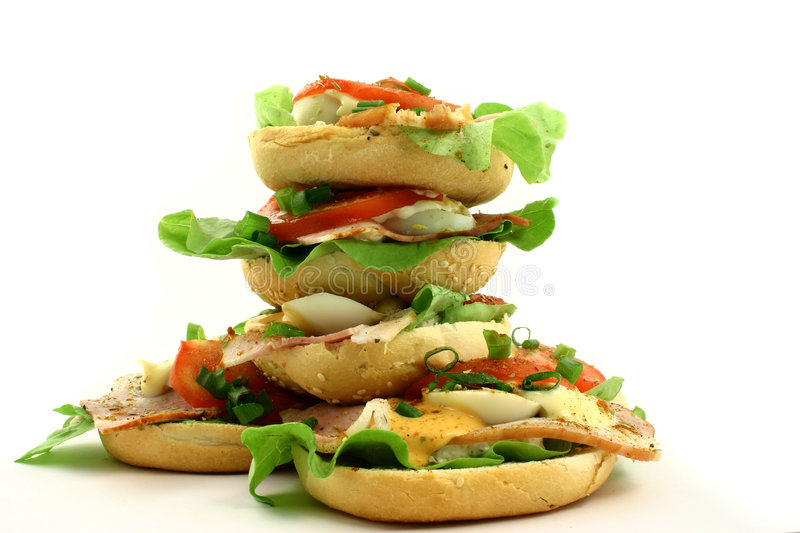 Download Tower of sandwiches stock image. Image of diet, dinning - 1148931