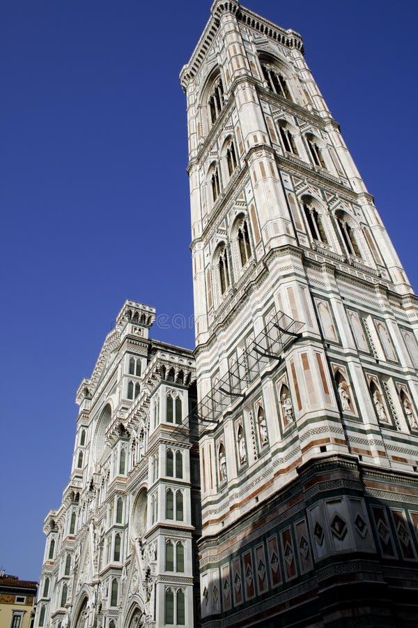 Tower of Santa Maria del Fiore church. Italy stock images