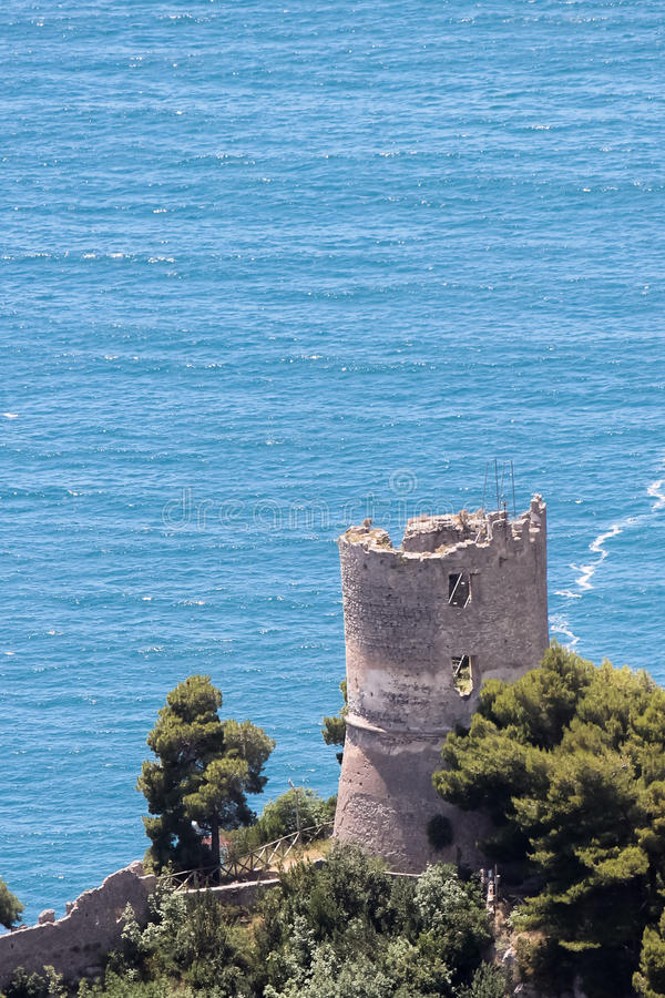 Tower on the sea stock image