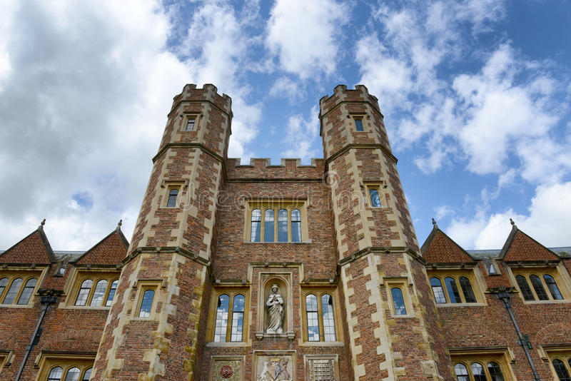 Tower of Second Court at St Johns College. Low Angle View of Tower of Second Court, an Example of Tudor Architecture, Leading to Third Court, St Johns College royalty free stock images