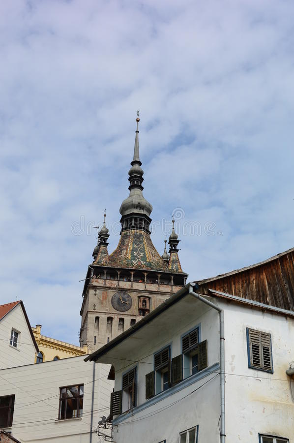 Download Tower in Sighisoara city stock photo. Image of dracula - 58414902