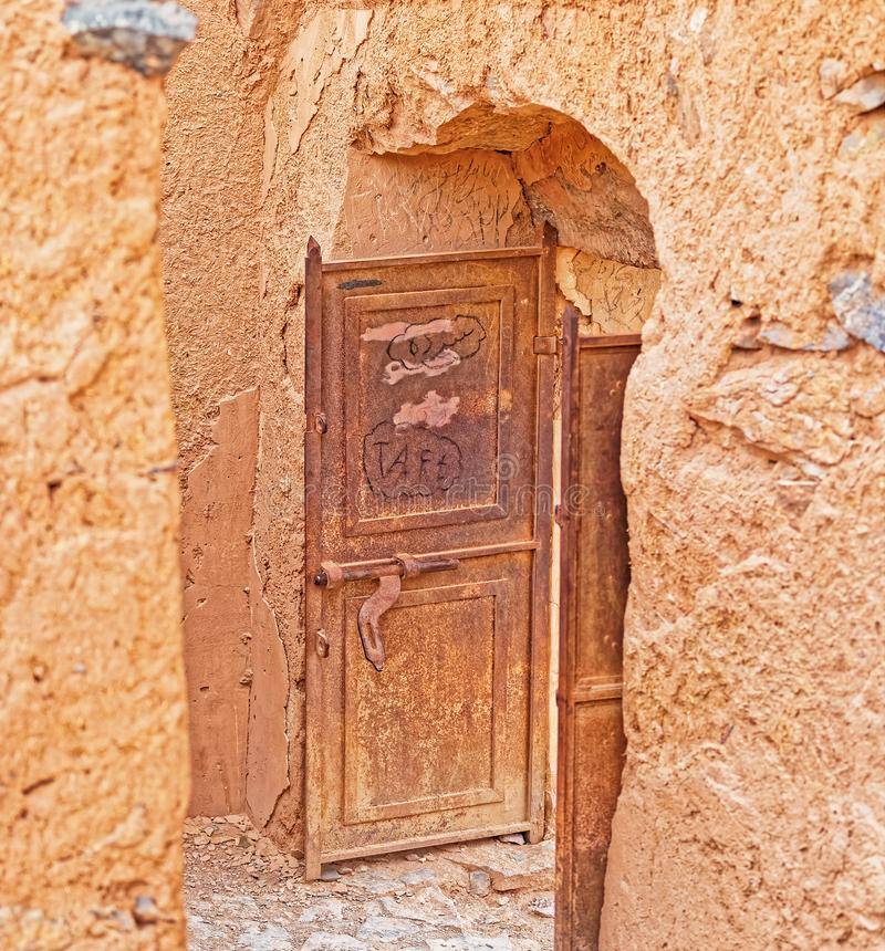 Tower of Silence entrance door stock photo