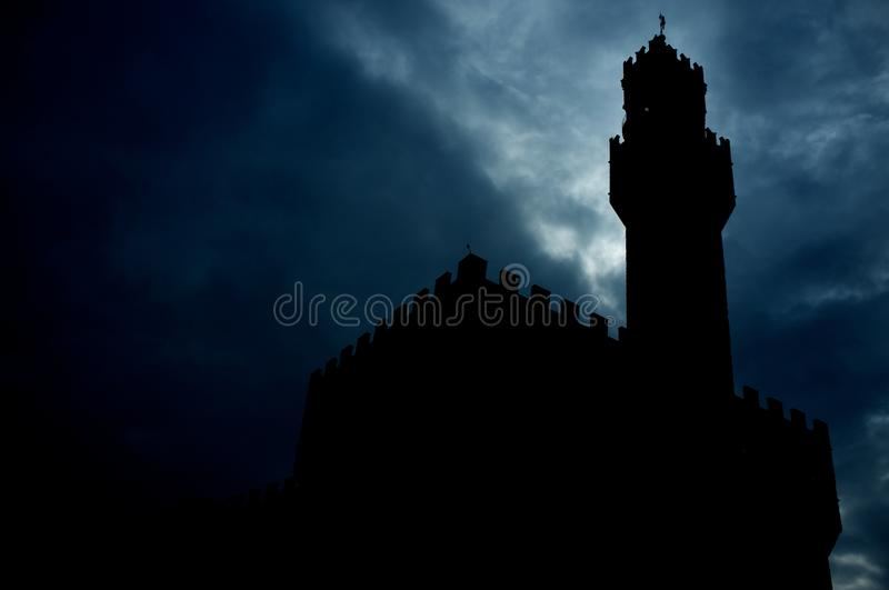 Download Tower silhouette at night stock photo. Image of aged - 26013264