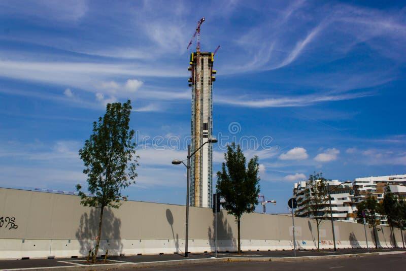 Tower Isozaki in Milan stock photos
