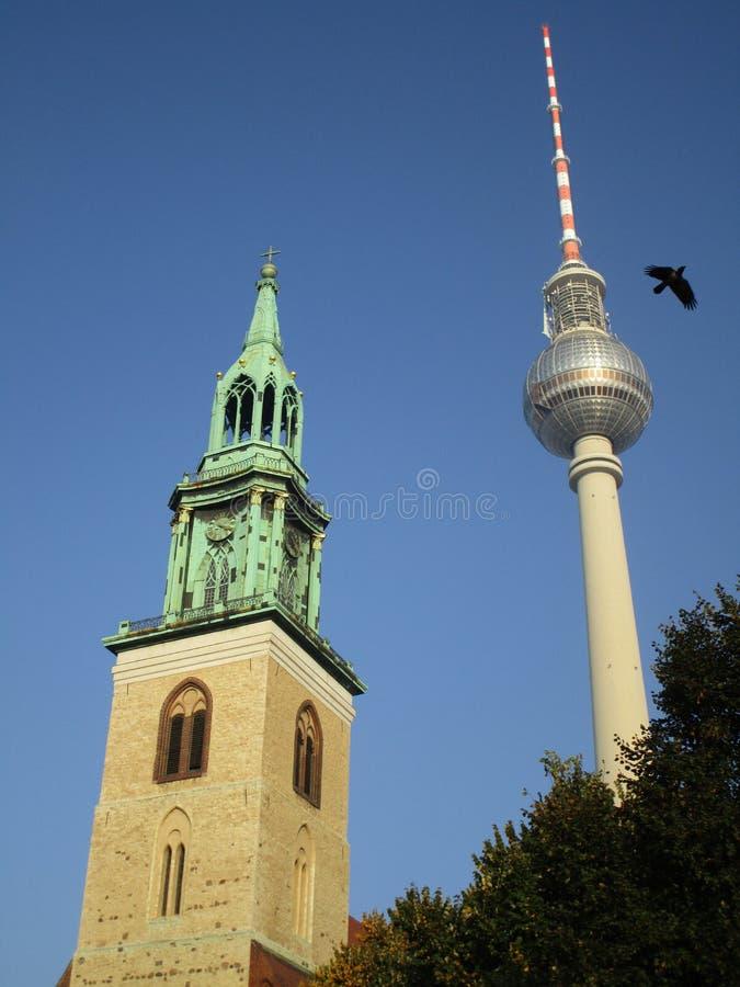 Tower, Spire, Landmark, Sky stock images