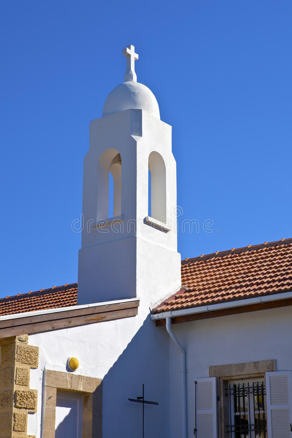 Download Tower Of St Andrew's Anglican Church In Kyrenia, Cyprus. Stock Photo - Image: 34386060