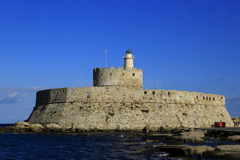 Tower of St. Nicholas, Rhodes royalty free stock photo