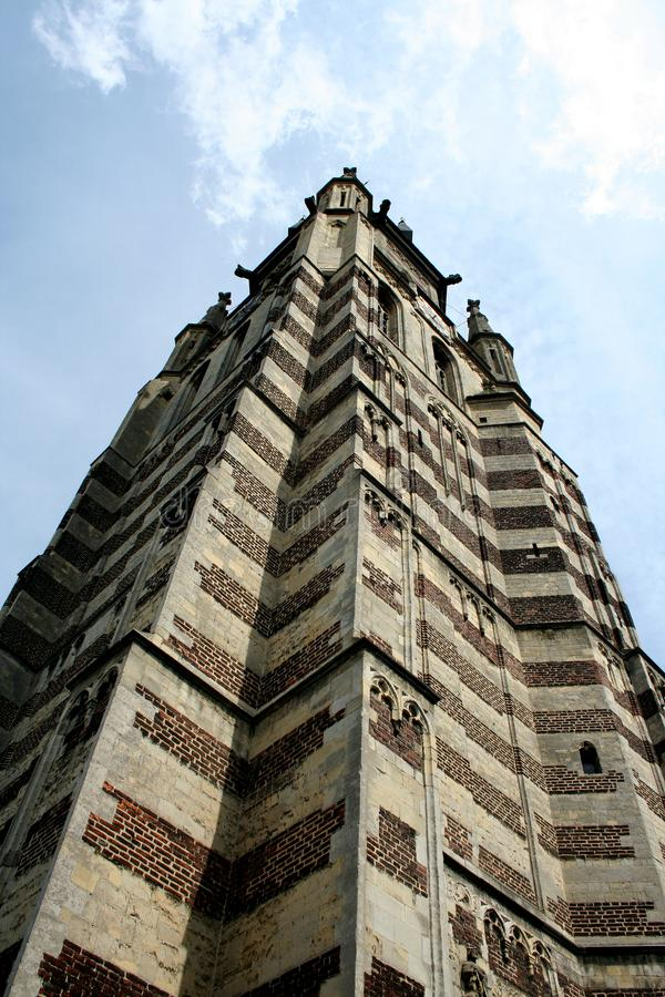 Tower of the St Petrus in Sittard stock photos