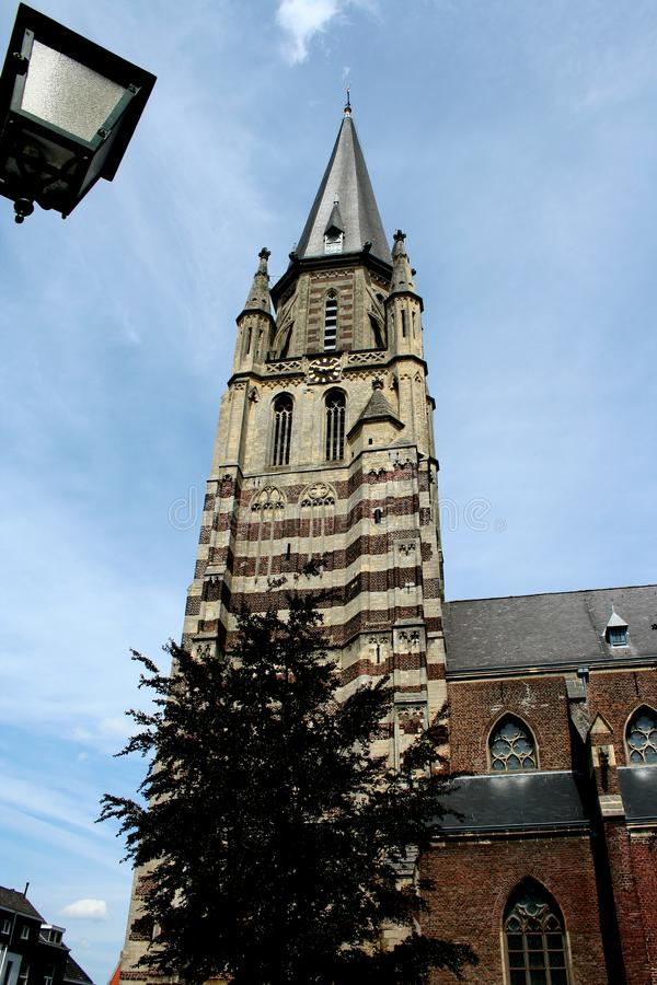 Tower of the St Petrus in Sittard royalty free stock photos
