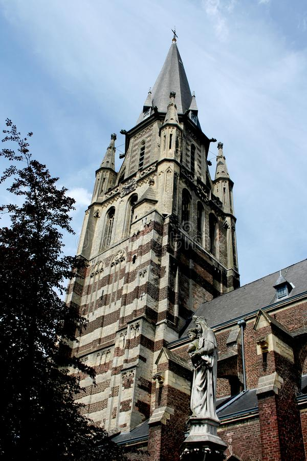 Tower of the St Petrus in Sittard royalty free stock photo