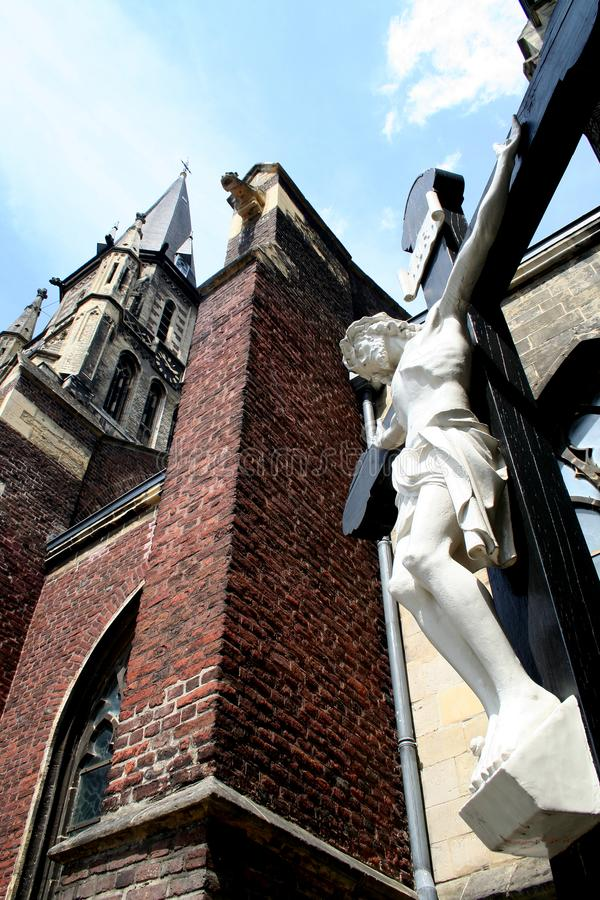 Tower of the St Petrus in Sittard stock images