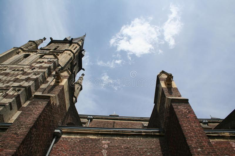 Tower of the St Petrus in Sittard royalty free stock photography