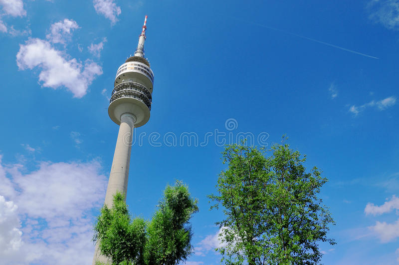 Tower of stadium of the Olympiapark in Munich royalty free stock images