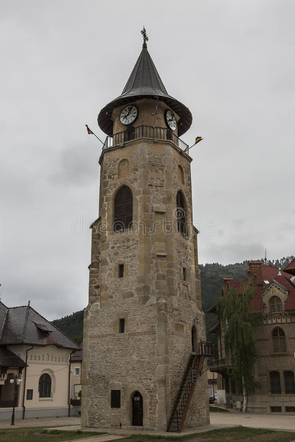 Tower of Stefan the Great - Piatra Neamt - Romania. Historic building royalty free stock photography