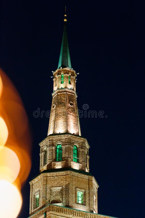 Free Tower Syuyumbike On The Territory Of The Kazan Kremlin On New Year`s Eve Royalty Free Stock Photography - 110158077