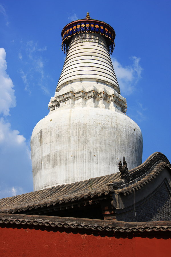 Tower temple. The 75. 3-meter-high (247-feet-high) Tayuan Temple is the symbol of Mt. Wutaishan, so it becomes a must-see. Principally it possesses the white royalty free stock photos