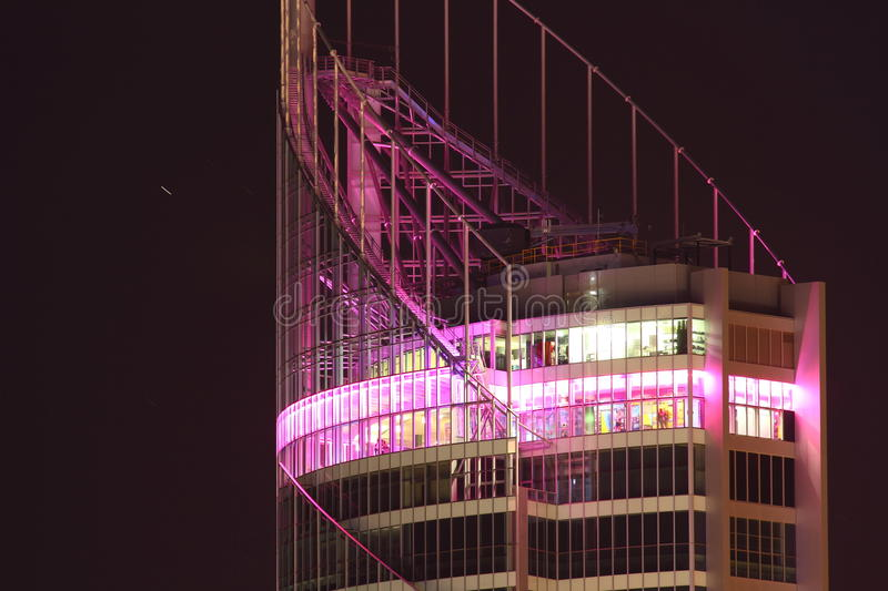 Observation Deck In Tower At Night Editorial Image