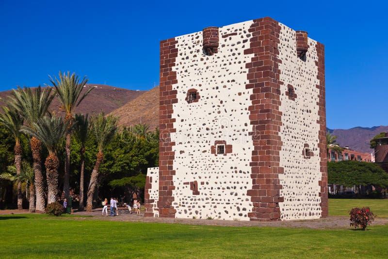 Tower Torre del conde in San Sebastian - La Gomera Island - Canary. Spain royalty free stock photos