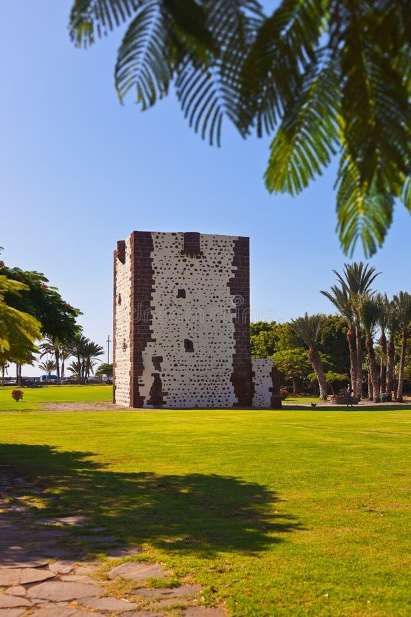 Tower Torre del conde in San Sebastian - La Gomera Island - Canary royalty free stock image