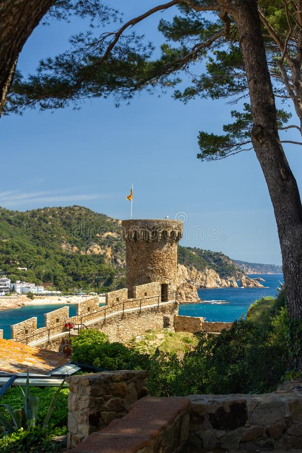 Tower from Tossa de Mar royalty free stock photography