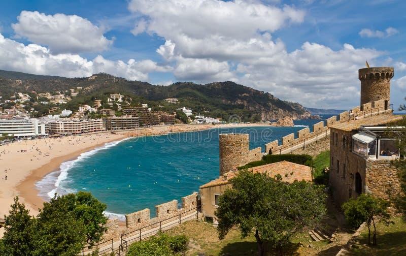 Tower Tossa de Mar, Spain stock photography