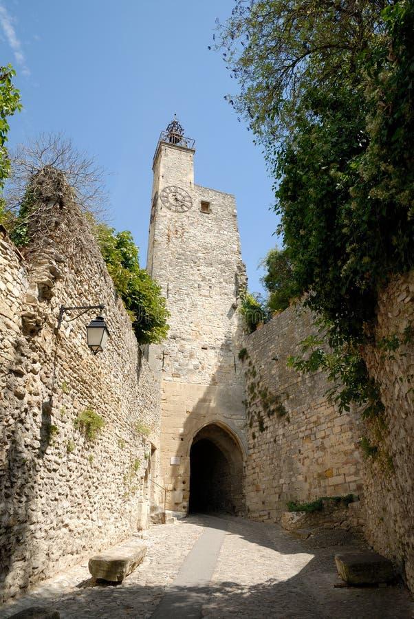 Tower in Vaison-la-Romaine, France stock photo