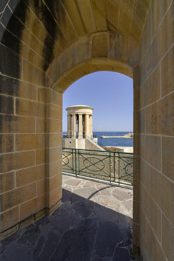 Tower in Valetta, Malta stock images
