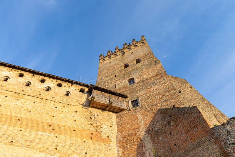 Tower van het kasteel van Lutsk Oud fort Oekraïne stock foto