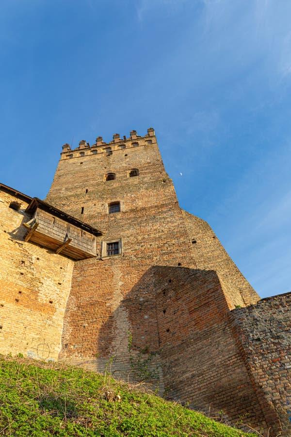 Tower van het kasteel van Lutsk Oud fort Oekraïne stock fotografie