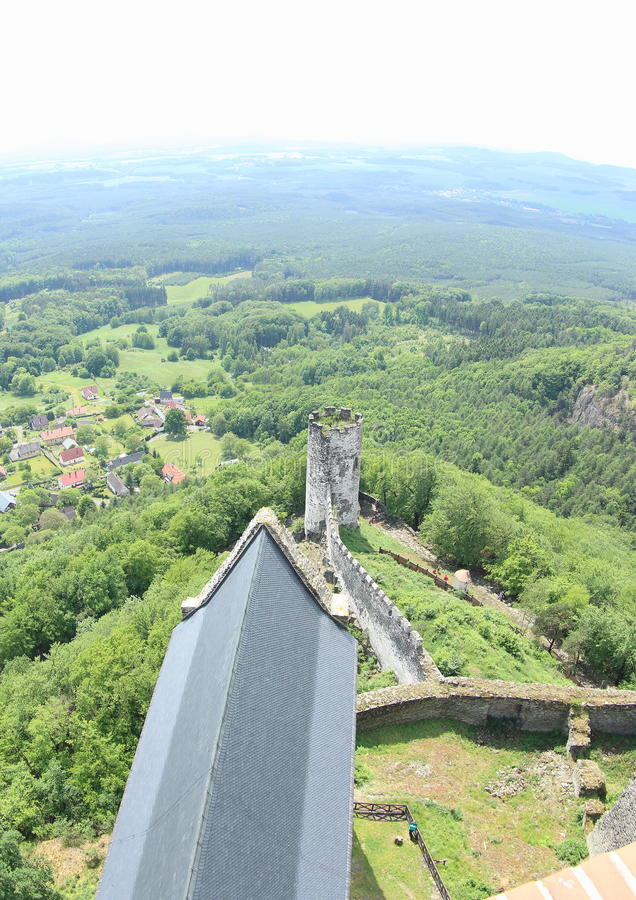 Tower View, Bezdez Castle royalty free stock photography