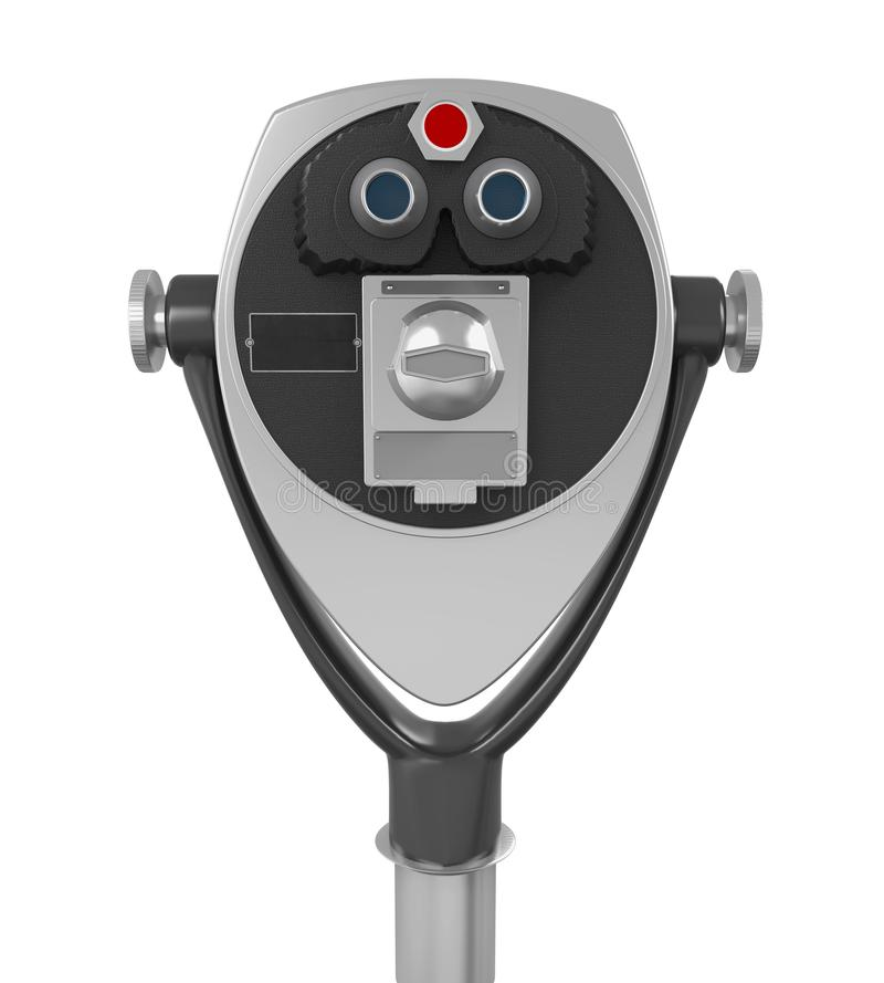 Tower Viewer Telescope Isolated. On white background. 3D render vector illustration