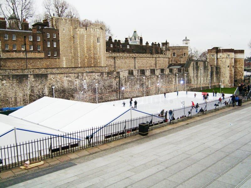 Tower von London - Eislauf stockbilder