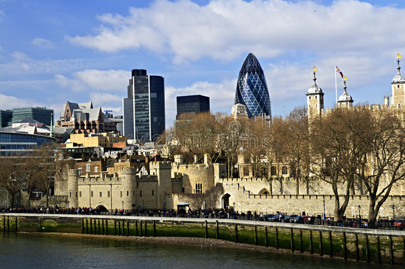 Tower von London Skyline stockbilder