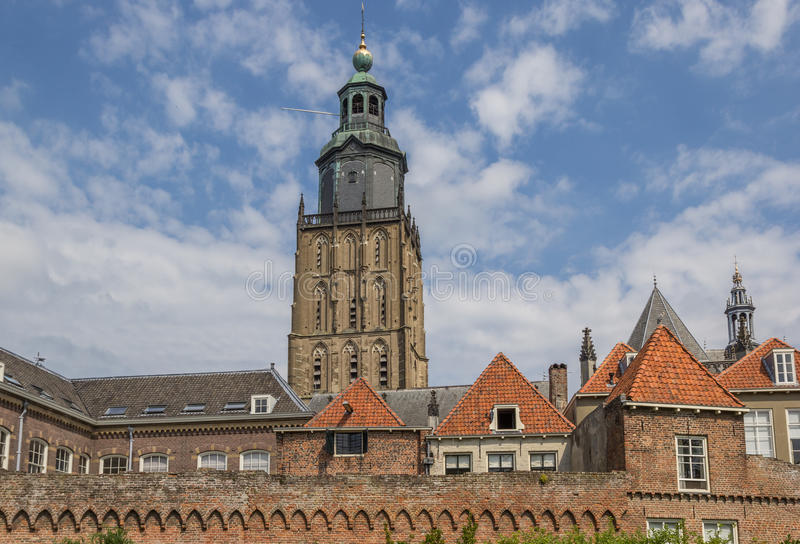 Tower of the Walburgis church in Zutphen royalty free stock photos