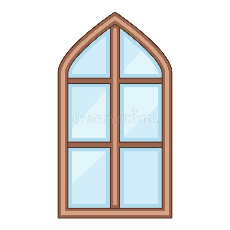 Free Tower Window Frame Icon, Cartoon Style Stock Images - 99660814