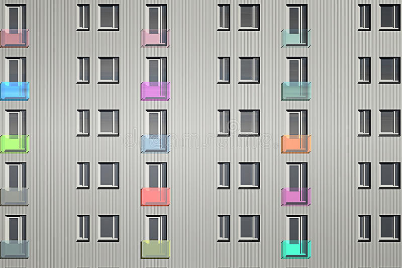 Tower windows stock illustration