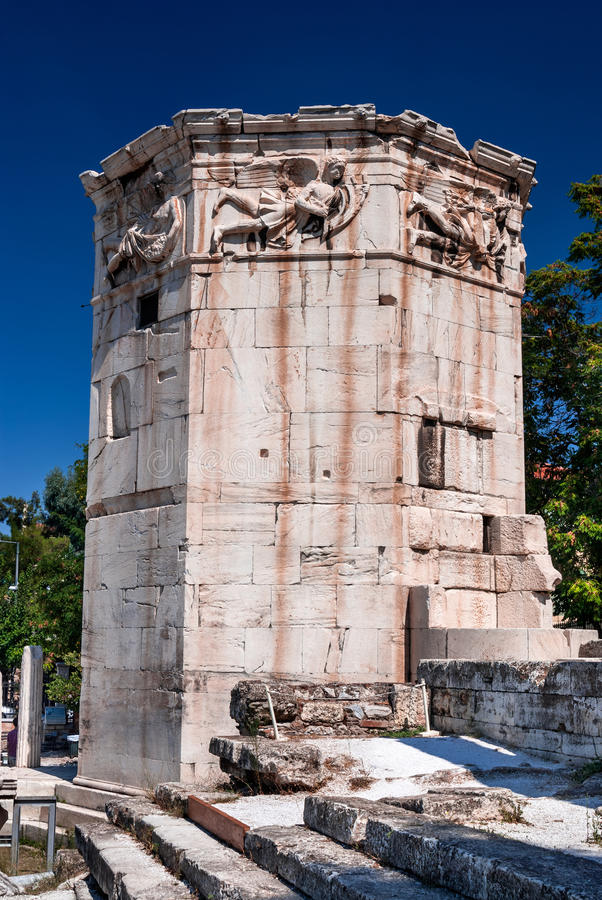 Download Tower Of The Winds, Athens, Greece Stock Photo - Image of horologion, relief: 30341584