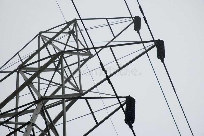 Tower With Wires Stock Image