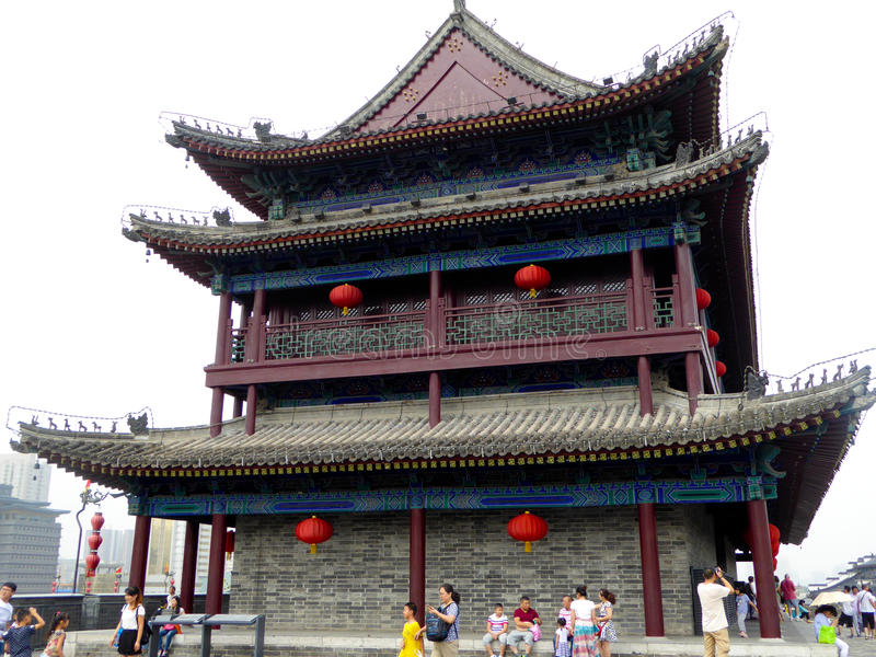 Tower on The Xi'an Circumvallation royalty free stock photography