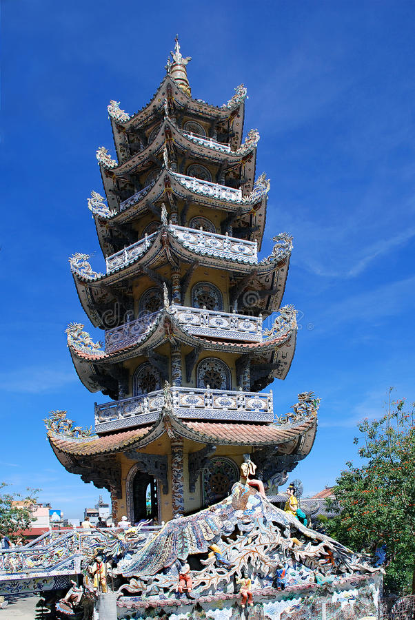 Towerin Dalat Wietnam (DaLat) fotografia stock