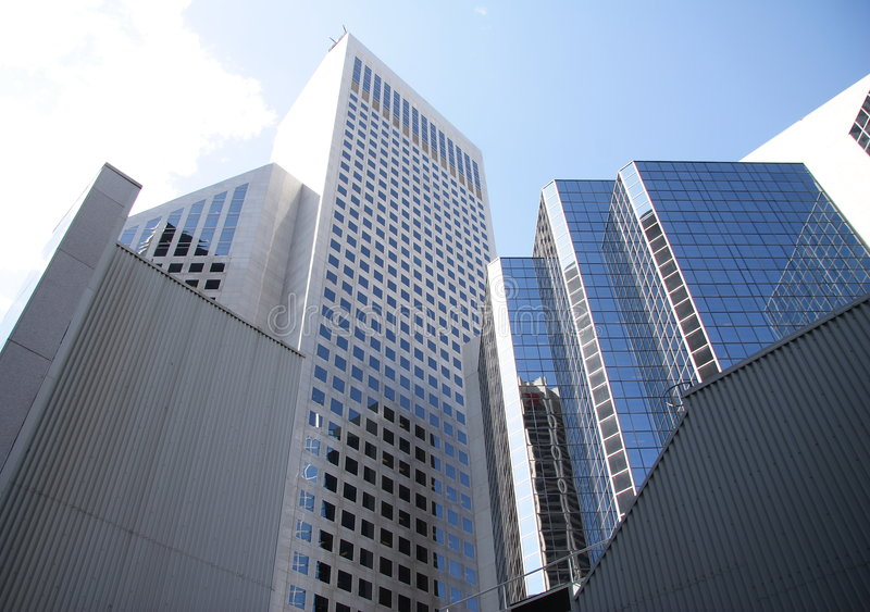 Towering Buildings In Calgary Royalty Free Stock Photos