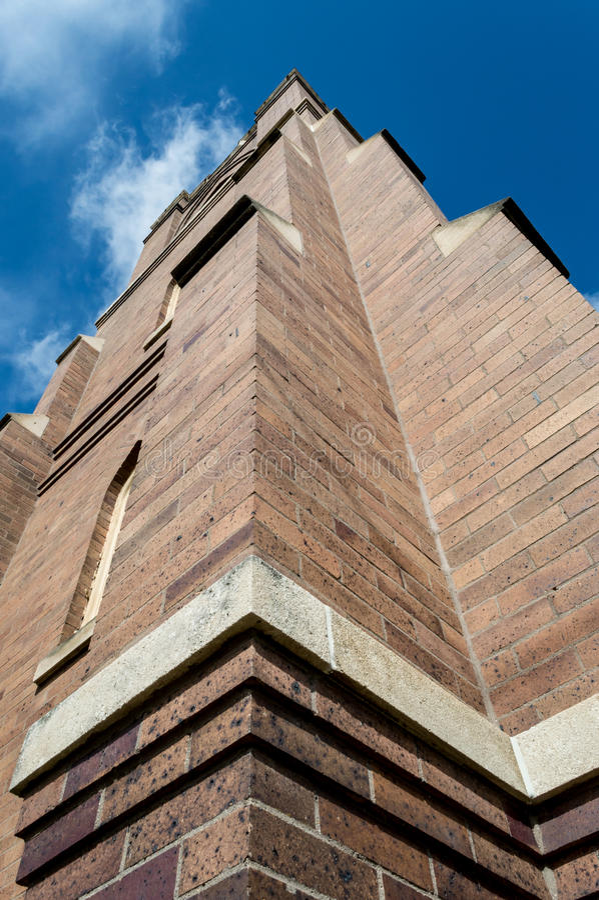 Towering Church stock photo