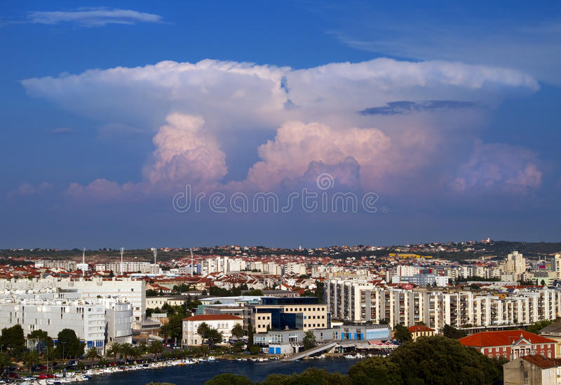 Download Towering cumulus. stock photo. Image of europe, city - 20362048