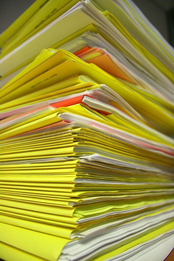 Download Towering files stock image. Image of files, documents - 4043491