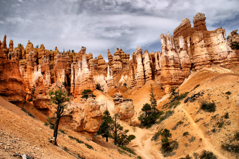 Towering Hoodoos at Bryce Canyon stock photos