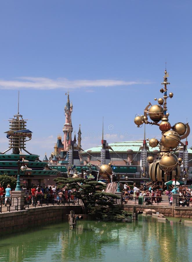 Towers of Disneyland Paris royalty free stock photo