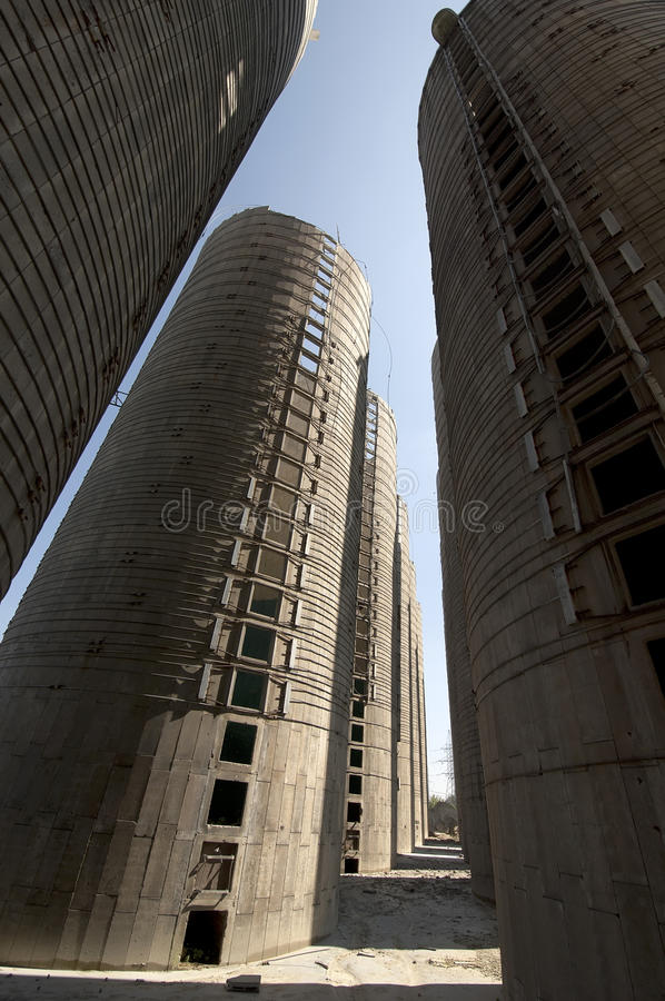 Towers of granary royalty free stock image