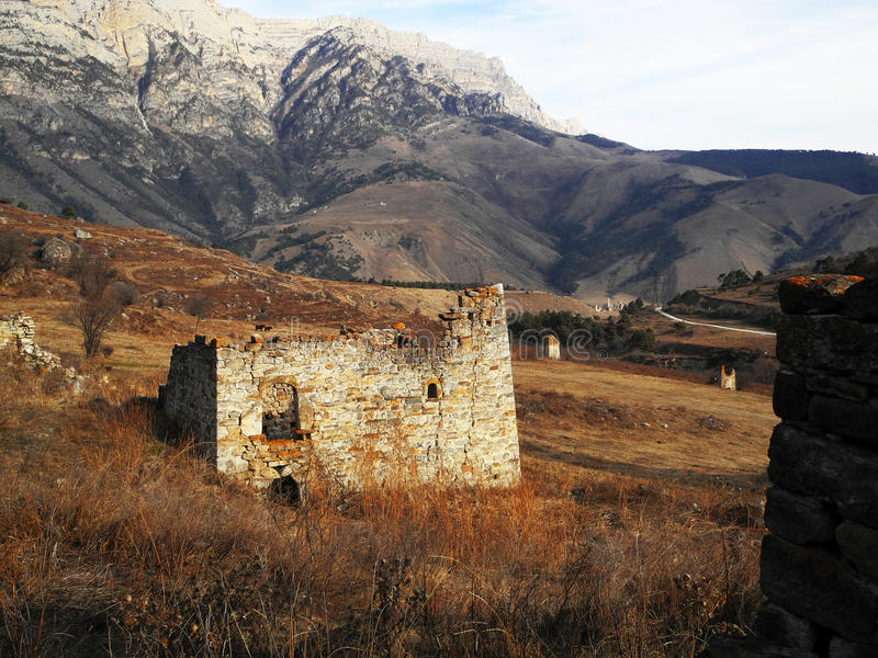 Towers Of Ingushetia. Ancient Architecture And Ruins stock image