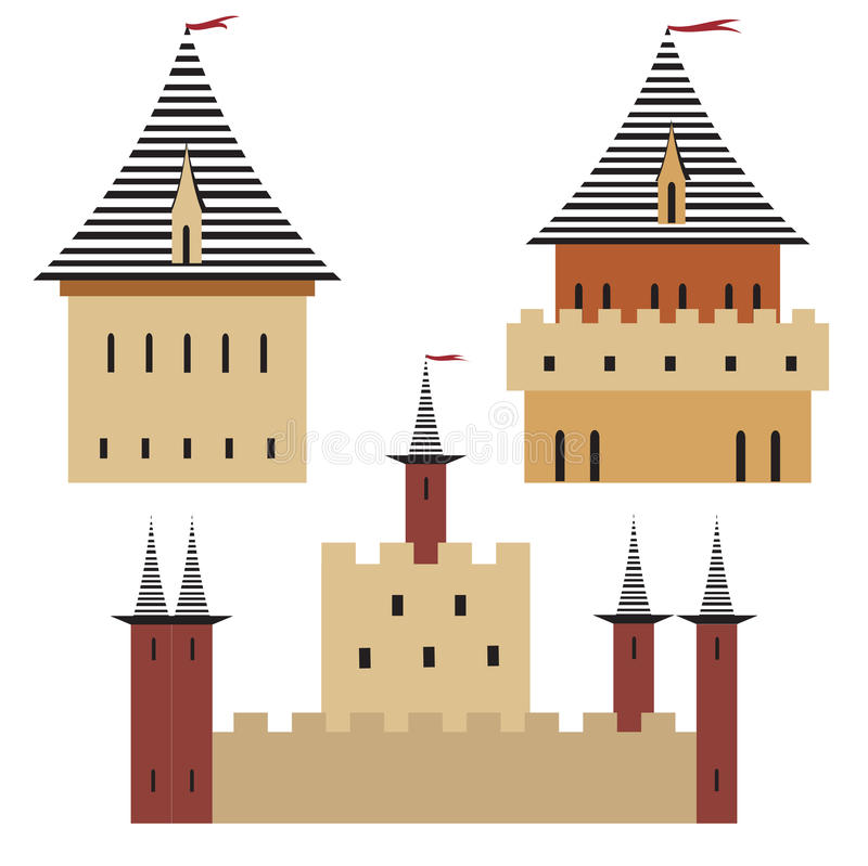 Towers of the medieval city, stock images